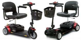 Scooter portátil y desmontable de gran maniobrabilidad en espacios reducidos