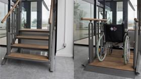 Práctica y elegante escalera elevadora para una total accesibilidad