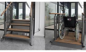geriatricarea escalera elevadora Adapto Valida sin barreras