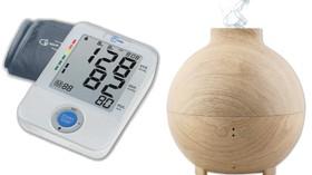 Tensiómetro de brazo y humidificador decorativo