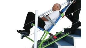 Silla de evacuación cómoda y segura para personas con movilidad reducida