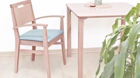 Elegante y cómoda silla para zonas comunes y comedores de residencias