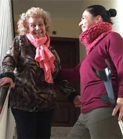 Geriatricarea Fisioterapeuta discapacidad hospitalización domiciliaria