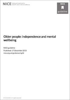 geriatricarea bienestar mental guia NICE