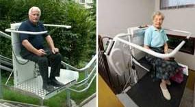 Plataforma salvaescaleras para mejorar la accesibilidad en espacios interiores y exteriores