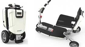 Un scooter que se convierte en una cómoda maleta tipo trolley