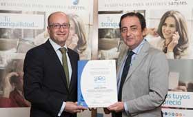 Geriatricarea Certificación de Calidad de la SEGG Sanyres