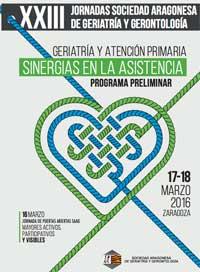 Geriatricarea Jornadas Sociedad Aragonesa de Geriatría y Gerontología