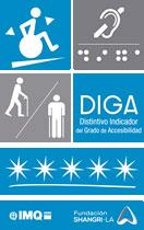 Geriatricarea señales accesibles Implaser Fundación Shangri-La