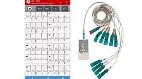 Electrocardiógrafo para mediciones ECG a través de smartphone o tablet