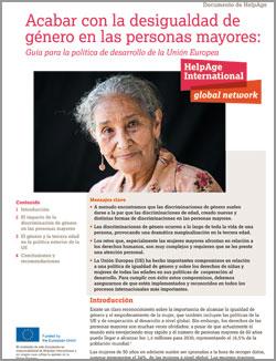 Geriatricarea HelpAge desigualdad de género en las personas mayores