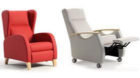 Elegantes y confortables sillones relax para equipar centros geriátricos