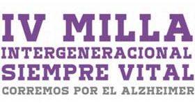 El 18 de septiembre se celebra la IV edición de la Milla Intergeneracional Siempre Vital