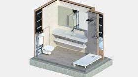 Una solución de Conspace para reformar completamente los baños de residencias en 24 horas