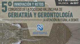 La Sociedad Valenciana de Geriatría y Gerontología celebrará su V Congreso el 10 y 11 de febrero