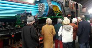 Usuarios del servicio de teleasistencia de ILUNION Sociosanitario visitan el Museo del Ferrocarril