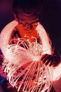 Geriatricarea salas multisensoriales tubos de burbujas fibras ópticas