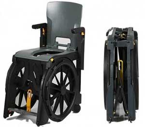 Wheelable una pr ctica silla de ducha plegable y autopropulsable - Duchas geriatricas ...