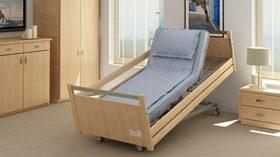 La cama geriátrica Leo proporciona confort y seguridad al usuario