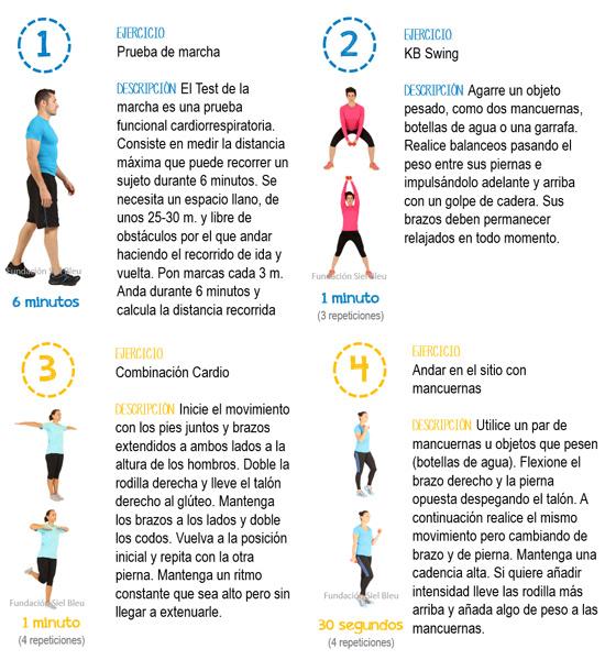 Cuatro sencillos ejercicios para prevenir el riesgo cardiovascular - Ejercicios cardiovasculares en casa ...
