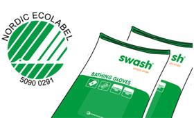 geriatricarea Swash certificado ecológico Nordic Swan Ecolabel