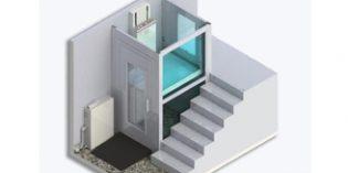 Plataforma vertical para superar pequeños tramos de escaleras