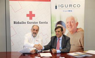 Firma acuerdo Cruz Roja Bizkaia e Igurco
