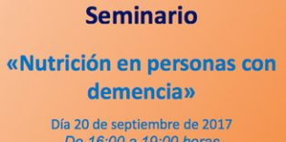 El CRE de Alzheimer imparte el seminario Nutrición en personas con demencia
