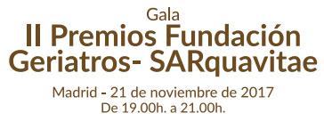 geriatricarea Premios Fundación Geriatros-SARquavitae