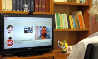 geriatricarea OMNI sistema de video-asistencia integrado televisor