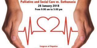 El Congreso de los Diputados acogerá el Seminario internacional: cuidados paliativosy socialesvs. eutanasia