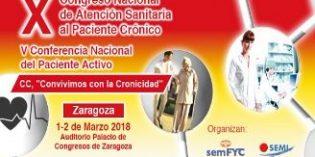 Zaragoza acoge el X Congreso Nacional de Atención Sanitaria al Paciente Crónico