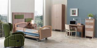 ND Mobiliario propone una habitación geriátrica cómoda, funcional y muy acogedora