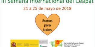 La III Semana Internacional del Ceapat se celebrará del 21 al 25 mayo