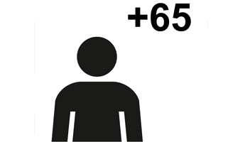 geriatricarea Símbolo gráfico de personas mayores
