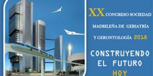 El XX Congreso de la Sociedad Madrileña de Geriatría y Gerontología tendrá lugar el 24 de octubre