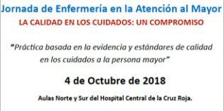 """Jornada de Enfermería en la Atención al Mayor """"La calidad de los cuidados: un compromiso"""""""