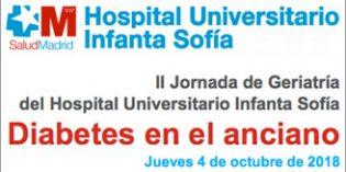 La II Jornada de Geriatría del Hospital Infanta Sofía se centrará en la Diabetes en el anciano