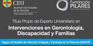 Curso semipresencialExperto en Intervenciones en Gerontología, Discapacidad y Familias según el Modelo AICP