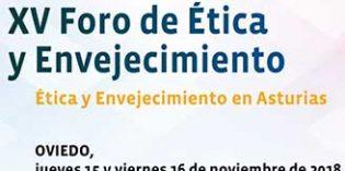Oviedo acoge el XV Foro de Ética y Envejecimiento el 15 y 16 de noviembre