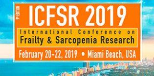 Miami acogerá  ICFSR 2019,  la Conferencia Internacional sobre Investigación en Fragilidad y Sarcopenia
