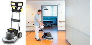 Máquina monodisco para la limpieza a fondo de suelos y revestimientos textiles