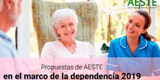 Propuestas de AESTE para mejorar la atención sociosanitaria a las personas dependientes
