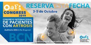 Barcelona acogerá el III Congreso Internacional de Pacientes con Artrosis