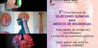 Convocado el V Curso Nacional de Sujeciones Químicas para Médicos de Residencias
