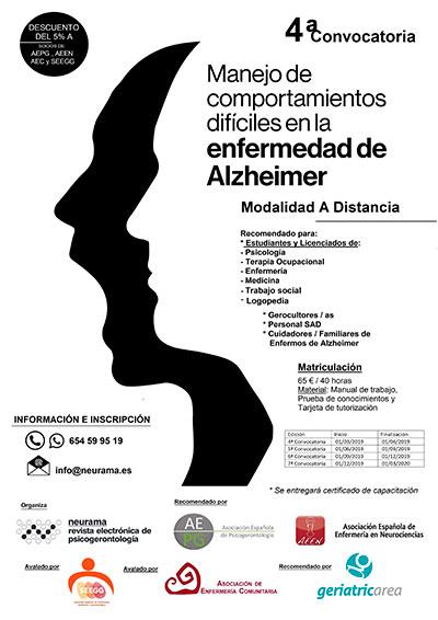 geriatricarea comportamientos enfermedad de Alzheimer