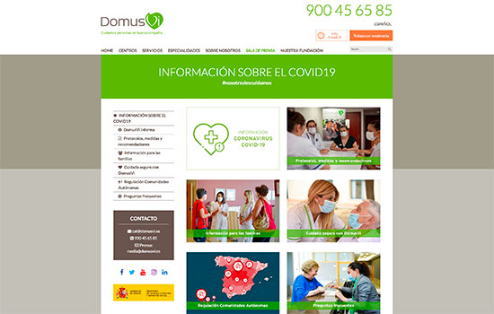 geriatricarea domusvi coronavirus