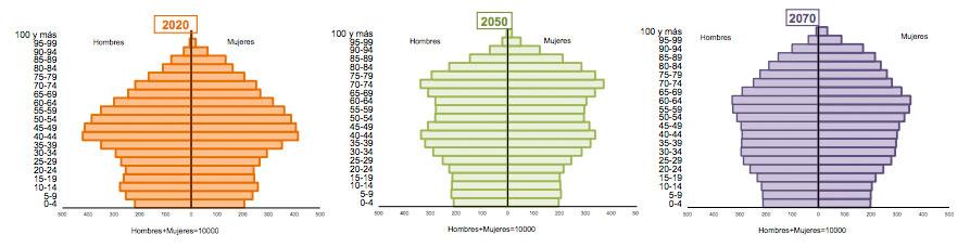 geriatricarea piramide poblacion espanola