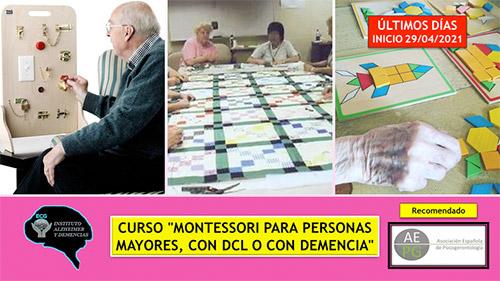 geriatricarea Montessori demencia