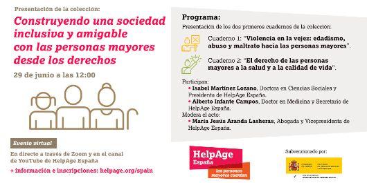"""Geriatricarea invitación presentación cuadernos """"Construyendo una sociedad inclusiva y amigable con las personas mayores desde los derechos"""""""